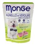 MONGE Dog Grill Pouch паучи для собак ягненок с овощами 100 г
