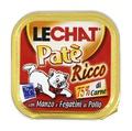 MONGE Lechat консервы для кошек говядина/куриная печень 100 г