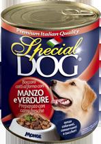 MONGE Special Dog консервы для собак кусочки говядины с овощами 820 г
