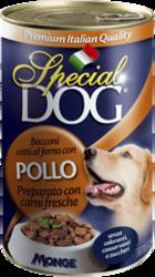 MONGE Special Dog консервы для собак кусочки курицы 820 г
