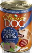 MONGE Special Dog консервы для собак паштет ягненок с индейкой 400 г