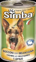 MONGE Simba Dog консервы для собак кусочки дичь 1230 г