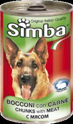 MONGE Simba Dog консервы для собак кусочки мяса 1230 г