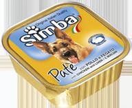 MONGE Simba Dog консервы для собак паштет курица с печенью 150 г