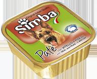 MONGE Simba Dog консервы для собак паштет телятина и горох 150 г