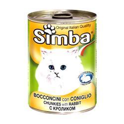 MONGE Simba Cat консервы для кошек паштет кролик 400 г