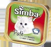 MONGE Simba Cat консервы для кошек паштет мясо 100 г
