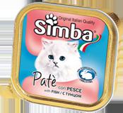MONGE Simba Cat консервы для кошек паштет рыба 100 г