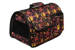Lion Сумка-переноска Премиум с карманами, коричнево/желтая, №3, размер 45х29х27см
