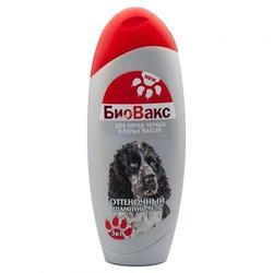 БиоВакс Шампунь-гель для собак оттеночный для пород серых и черных мастей 355мл