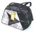 DOGMAN Сумка -переноска для собак №6В, черная/микс, размер 38х20х27см