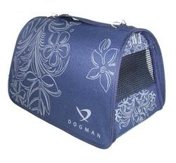 DOGMAN Сумка -переноска для собак Лира №4 темно/синяя, 48х30х30см
