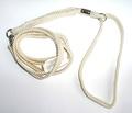 Hello Pet Ринговка для собак нейлоновая с кольцом слоновая кость 120см х 10мм.
