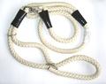 Hello Pet Ринговка для собак нейлоновая с кольцом слоновая кость круглая 120см х 12мм.
