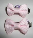 """ForMyDogs Зажим + 2 латексные резинки для волос """"Бантик"""" 3см, цвет розовый."""