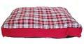 Lion Матрас прямоугольный тканевый с бортом, красный, размер L, 80х60см