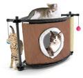 """Kitty City Игровой комплекс с когтеточкой для кошек: Сонное царство """"Sleepy Corner"""": 44*45*45см, сизаль (pl0306)"""