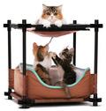 "Kitty City Лежак для кошек: Барские покои ""Cozy Bed"": 44*45*45см (pl0311)"
