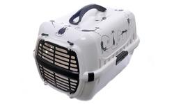 """Moderna Переноска для кошек Trendy """"Силуэт кота"""" с пластиковой дверцей, 31х51х34"""
