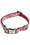 Papillon Нейлоновый ошейник с рисунком, розовый (Adjustable nylon collar, Hula Hula, colour pink)