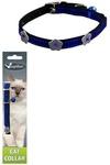 Papillon Светоотражающий ошейник для кошек 10мм/28см, синий (Reflective velvet cat collar 10 mm x 28 cm, colour blue) 270102