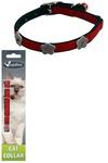 Papillon Светоотражающий ошейник для кошек 10мм/28см, красный (Reflective velvet cat collar 10 mm x 28 cm, colour red) 270103