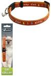 "Papillon Ошейник для кошек ""Китти"" 10мм-21-33см, оранжевый (Adjustable cat collar, 10 mm x 21 - 33 cm, Kitty cat, colour orange) 270111"