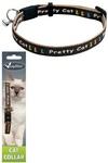 "Papillon Ошейник для кошек ""Китти"" 10мм-21-33см, коричневый (Adjustable cat collar, 10 mm x 21 - 33 cm, Kitty cat, colour brown) 270112"