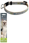 "Papillon Ошейник для кошек ""Китти"" 10мм-21-33см, серый (Adjustable cat collar, 10 mm x 21 - 33 cm, Kitty cat, colour grey) 270113"