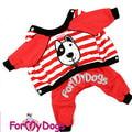 """ForMyDogs Костюм для собак """"Морской пес"""" из трикотажа без капюшона, размер 8, 12, цвет красный"""