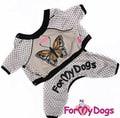 "ForMyDogs Костюм для собак ""Бабочка"" бежевый из тонкого трикотажа без капюшона, размер 12"