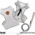 I's Pet Шлейка-жилетка серая с поводком 1,2м, размер L