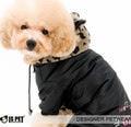 I's Pet Комбинезон теплый для собак цвет черный с капюшоном из меха с ушками, размер М