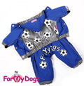 ForMyDogs Дождевик для собак на флисовой подкладке, с капюшоном, цвет синий, модель для мальчиков, размер 12, 14