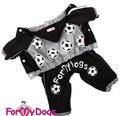 ForMyDogs Дождевик для собак на флисовой подкладке, с капюшоном, цвет черный, модель для мальчиков, размер 12, 14