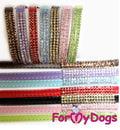 ForMyDogs Поводок с кристаллами, цвет коричневый, размер 0,9смх1,2м