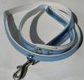 ForMyDogs Поводок для собак голубой металлик, длина 120 см, ширина 1,5см.