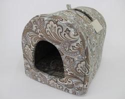 """Бобровый дворик Домик - Нора для собак и кошек, 53*39*39см. """"Огурцы"""""""