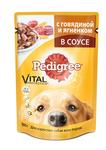 Педигри Пауч для собак Говядина/Ягненок в соусе 100г х 24шт