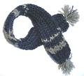 Шарфик вязанный, синий, размер S/M
