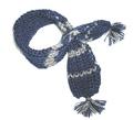 Шарфик вязанный, синий, размер L