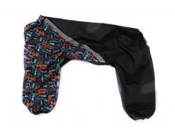 ZooAvtoritet Дождевик для больших собак, черный/цветной, размер 5XL, спина 55-60см
