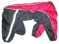 ZooPrestige Дождевик для крупных собак черно/красный, размер 8XL, спина 75см