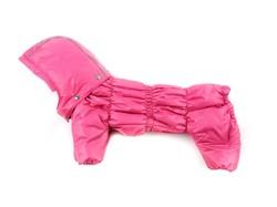 ZooPrestige Комбинезон для собак Дутик малиновый, размер S, спина 22-26см