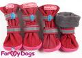 ForMyDogs Сапоги для больших собак, бордо, флис, на резиновой подошве, размер №6
