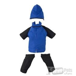 АНТ Комбинезон для больших собак синий/черный размер XL, спина 60 см