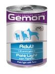 MONGE Gemon Dog Light консервы для собак облегченный паштет тунец 400 г