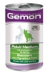 MONGE Gemon Dog Medium консервы для собак средних пород кусочки ягненка с рисом 1250 г