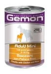 MONGE Gemon Dog Mini консервы для собак мелких пород кусочки курицы с рисом 415 г