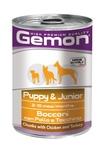MONGE Gemon Dog консервы для щенков кусочки курицы с индейкой 415 г